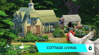 Country Cottage 🐮🍄    The Sims 4 Cottage Living: Speed Build