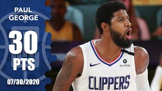 Paul George's 30 points not enough as Clippers lose to Lakers | 2019-20 NBA Highlights