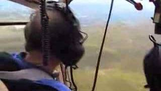 Flying over the lake district in a gazelle