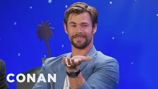 "Chris Hemsworth Chose Not To Be In ""Captain America: Civil War""  - CONAN on TBS"