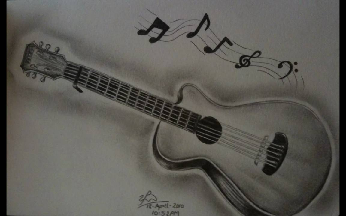 Guitar Pencil drawing ...