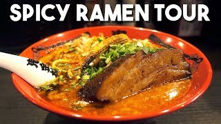 Epic SPICY Ramen Tour in Tokyo Japan