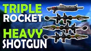 TRIPLE ROCKET & HEAVY SHOTGUN | BLITZ MASSACRE - (Fortnite Battle Royale