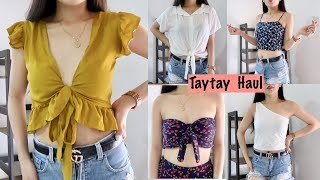 50 PESOS LANG?? TAYTAY TIANGE TRY-ON CLOTHING HAUL!! (I SPENT 1000PHP) || Aehrika Gaji
