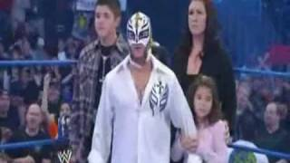 CM Punk confronts Rey Mysterio and his family on SmackDown 03/12/2010 HQ