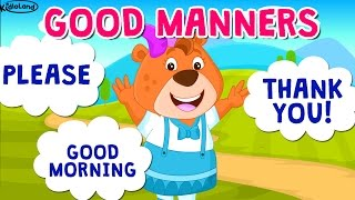Learning good habits for kids | Good manners with KidloLand | Stories for kids