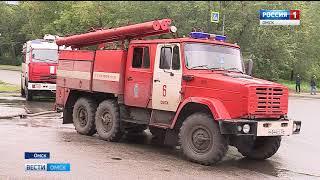 Крупный пожар сегодня случился в городке Нефтяников