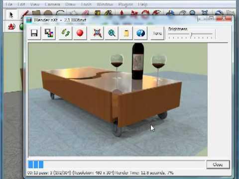 Sketchup rendering simple object rendering using irender for Programma rendering free