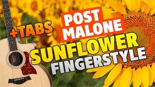 Post Malone - Sunflower (Fingerstyle Guitar Cover With Free Tabs)