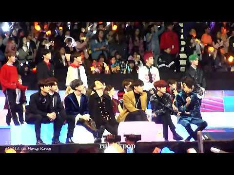 171201 MAMA - EXO Power Reaction: NCT127, Got7, Red Velvet, Super Junior(towards the end)