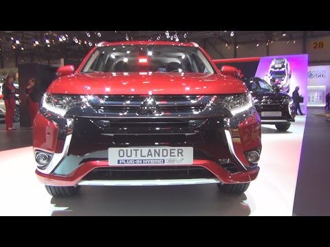 Mitsubishi Outlander PHEV Diamond 4x4 AT Red (2016) Exterior and Interior in 3D