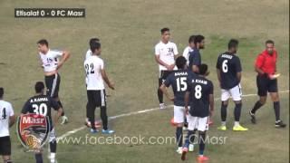 ملخص مباراة المصرية للإتصالات 0 : 0 نادي مصر دوري ممتاز ب     -
