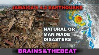 HURRICANES AND EARTHQUAKES.  NATURAL/MANMADE