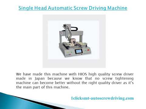 Screw Tightening Machine from 1ClickSMT & Their Specifications