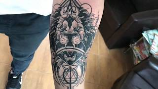 Lion - Tattoo time lapse (Design by Otheser)