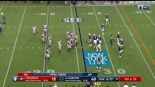 Auburn Defense Dances Before Play in Rout of Georgia