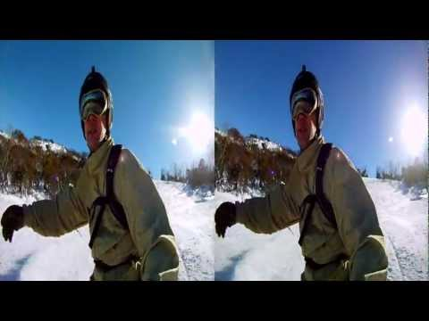 Thredbo in 3D - June 2011 - 3D GoPro Snowboarding