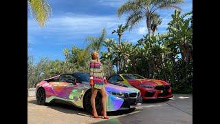 Paris Hilton's Rainbow Mobile