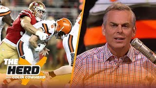 Colin reacts to Browns' 31-3 shellacking by the 49ers & says team should trade OBJ | NFL | THE HERD