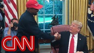 Kanye West's rant leaves Trump speechless
