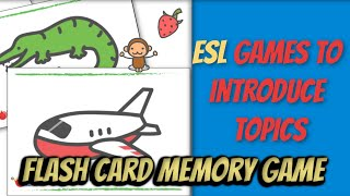Flash Card Memory Game (Word introduction/Review)