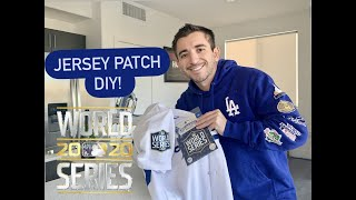 NIKE DODGERS WORLD SERIES JERSEY PATCH UPGRADE - DIY SAVE MONEY 2020 MLB TUTORIAL