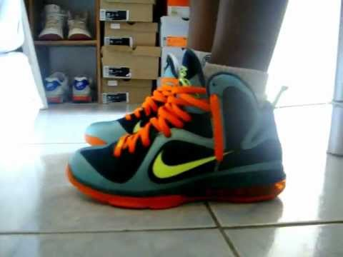 Displaying  19  Gallery Images For Lebron 9 Cannon On Feet   Lebron 9 Big Bang On Feet