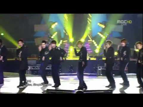 111231 MBC歌謠大戰 Super Junior Mr.Simple+Bonamana