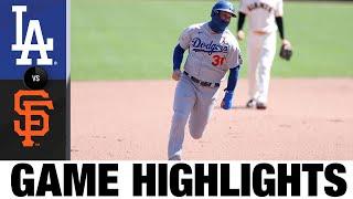 Kershaw, Betts hit milestones in 7-0 win   Dodgers-Giants Game Highlights 8/27/20
