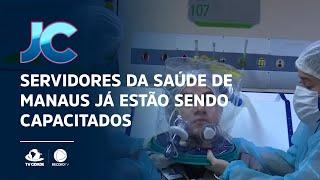 Servidores da saúde de Manaus já estão sendo capacitados para utilizar o capacete elmo