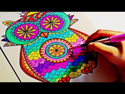 Mandala Boyama Tablo Nasıl Yapılır Hemen Poster Dekoratif Kanvas