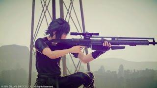 [MGS] Final Fantasy XV - Sniper Rifle Gameplay (P_-)