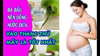 Bà bầu nên uống nước dừa vào tháng thứ mấy là tốt nhất- Dinh dưỡng mang thai