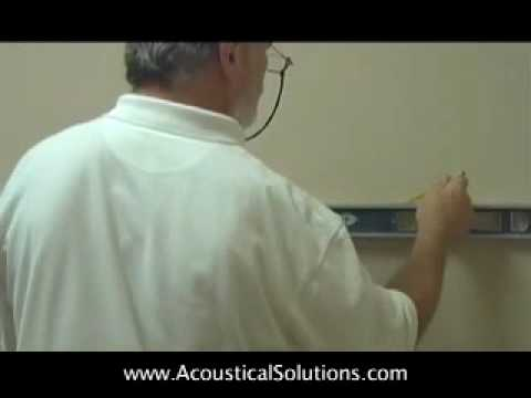 Acoustical Wall Panel Installation w/ Z-Clip