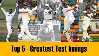 Top 5 - Greatest Test cricket Innings in the last 25 years