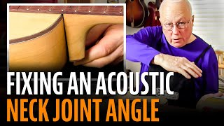 Watch the Trade Secrets Video, Fixing the angle of an acoustic neck joint