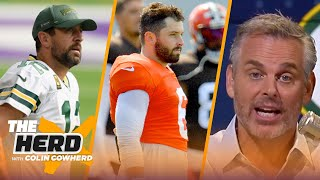 Pressure's on Baker tonight, fracture in Rodgers relationship w/Packers — Colin | NFL | THE HERD