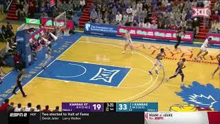 Kansas State vs. Kansas Men's Basketball Highlights