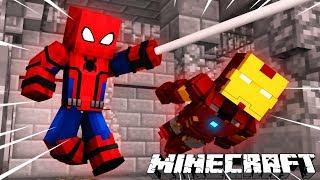 Nếu Người Nhện Và Người Sắt Trốn Tù Trong Minecraft