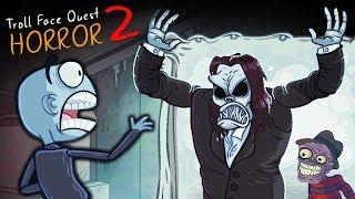 ТРОЛЛИМ НОВЫХ ХОРРОРОВ! Страшные ТРОЛЛФЕЙСЫ в Веселой игре Troll Face Quest Horror 2