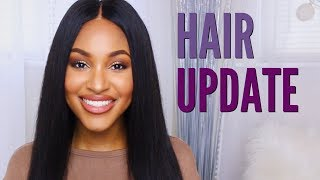 Straight Hair Update & Styling | SuperNova Hair!