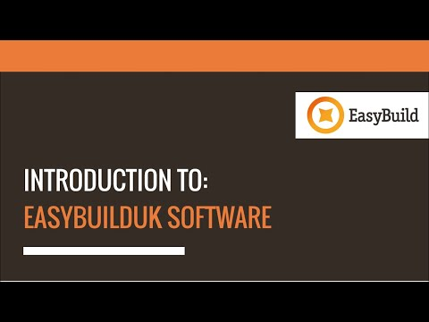 Introduction to EasyBuild (Construction Software)