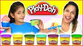 Play Doh Fun Creations Rainbow, CupCake, Flowers & More  #ShrutiArjunAnand #MyMissAnand #ToyStars