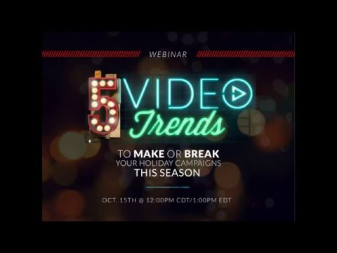 [Webinar] 5 Trends to Make or Break Your 2015 Holiday Campaigns