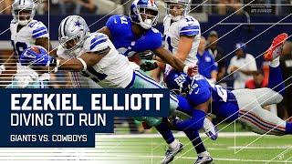 Ezekiel Elliott Scores 1st Career TD After Brandon Carr's Nice INT! | Giants vs. Cowboys | NFL