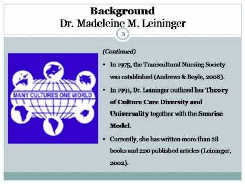 Leininger's Culture Care Theory