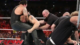 Brock Lesnar confronts The Undertaker: Raw, July 20, 2015