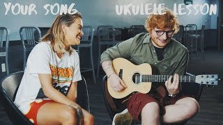 your song rita ora FT Ed Sheeran Ukulele Lesson how to play tutorial