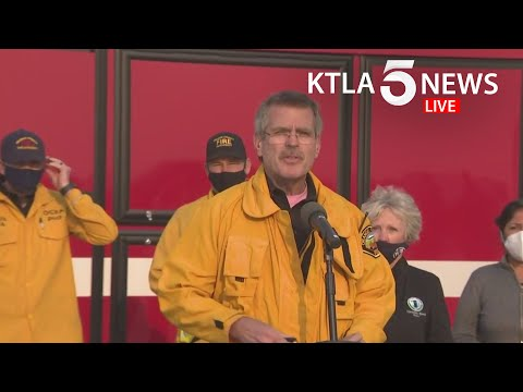 Officials provide update on Silverado and Blue Ridge fires in Orange County, California