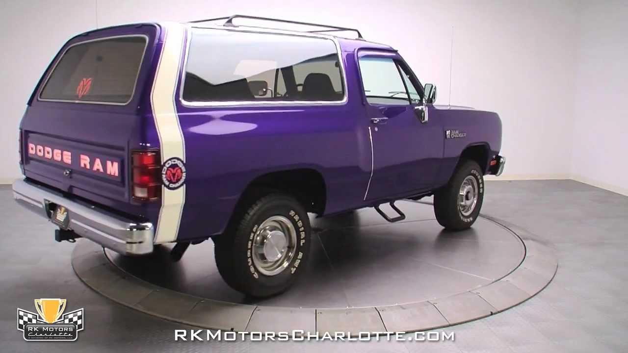 132508 1990 Dodge Ramcharger 150 Youtube